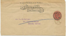 2441 1907 EVII 1 D scarlet stamped to order postal stationery wrapper W.H. SMITH