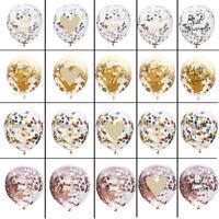 "10pcs 12"" Confetti Latex Balloons Bunting Banner Helium Wedding Birthday Party"