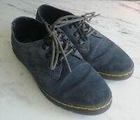 Dr Martens Gizelle II Uk 3 Women's Blue Suede Lace Up Shoes Genuine
