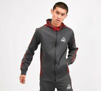 Kings Will Dream KWD Mens New Tracksuit Hoody Joggers Manse Charcoal Red