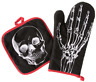Sourpuss Anatomical Skeleton Skull Halloween Punk Gothic Oven Mitt Set SPHW259