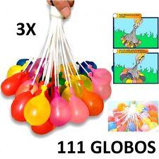 3X RACIMO GLOBOS DE AGUA 111 GLOBOS + ADAPTADOR MANGUERA MAGIC NIÑOS BALLOONS