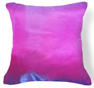 Jb217a 2 Pcs x Blue Fuschia Poly Taffeta Cushion Cover/Pillow Case Custom Size
