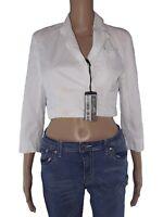 avirex giacca donna corta bianco cotone taglia s small