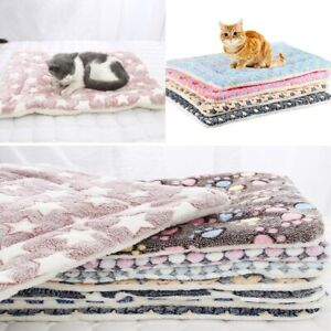 Dog Bed Soft Flannel Thickened Pet Warm Fleece Pad Pet Blanket Bed Mat For Small