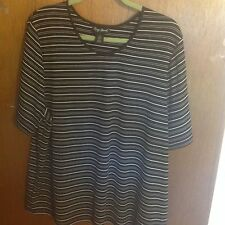 Maggie Barnes 1X RIBBED KNIT PULLOVER  52 INCH BUST FIT 2x  3x  SUMMER BLOUSE
