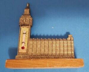 Big Ben and House of Parliament Golden Thermometer (Bought in London) Souvenir