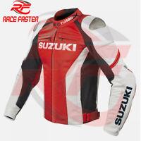 SUZUKI GSXR TURBOX NEW MOTORBIKE MOTORCYCLE RACING LEATHER JACKET CUSTOM EU42-64