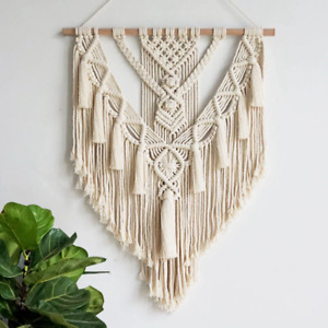 Macrame Wall Hanging Tapestry Wall Decor Boho Chic Bohemian Woven Home