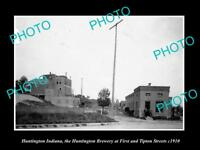 OLD LARGE HISTORIC PHOTO OF HUNTINGTON INDIANA THE HUNTINGTON BREWERY c1910