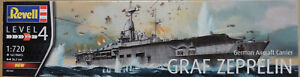 WWII GERMAN AIRCRAFT CARRIER GRAF ZEPPELIN REVELL 1:720 PLASTIC MODEL SHIP KIT