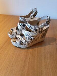 Michael Kors Snake Print Wedge Sandals Size UK 6 (US 8m)