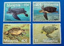 1990 Malaysia Marine Life 3rd Series --- Turtles 4v Stamps Mint NH