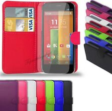 Motorola Moto E2 2015 2nd Generation - Leather Wallet Case &  Screen Protector