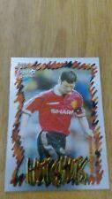 Manchester United Futera 1999 Fans Selection Chrome Hot Shots Card 48