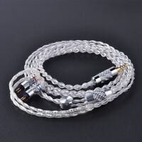 Custom Service 8 Core Pure Silver Cable Headphone Upgraded Wire Connector Plug