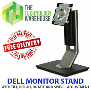 Dell Monitor Stand for Dell Monitor - Height Swivel Rotate Tilt Adjust - 1909Wb