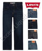 Levi's Boys 505 Regular Fit, Straight Leg, Adjustable Waist Jeans
