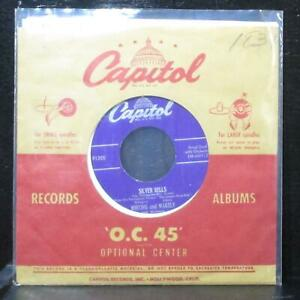 """Whiting & Wakely - Silver Bells / Christmas Candy 7"""" VG+ Capitol F1255 lbl var 3"""