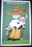 CUBAN Silk-screen Poster for Movie About Cattle Rancher by Cuba Art Master BACHS
