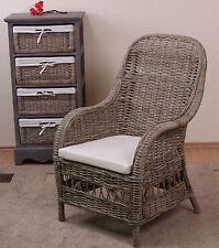 Rattansessel inkl. Kissen Relaxsessel Loungesessel Rattan Sessel Farbe:Naturgrau