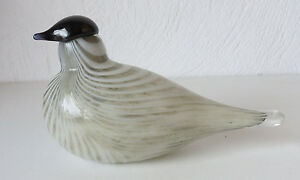 Iittala OIVA TOIKKA  Art Glass Bird,  Baby Dove,  Excellent Condition