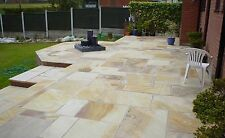 Mint Fossil Indian Sandstone Paving Patio Slabs.25-40mm PRICE INCLUDES VAT