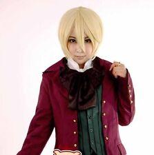 short blonde Alois Trancy kuroshitsuji Anime straight Cosplay Wig Free Shipping