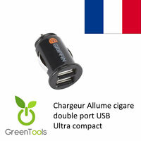 MICRO MINI CHARGEUR VOITURE DOUBLE USB ALLUME CIGARE HTC ONE GOOGLE NEXUS LG