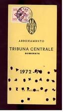 Calcio-football juventus Abbonamento  1972/73