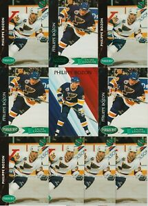 PHILIPPE BOZON ROOKIE 10 CARD RC LOT 1991-92 PARKHURST 92-93 EMERALD ICE CALDER