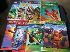 Lot 8 LEGO Books ~Lego NINJAGO Master of Sinjitzu and Lego Legends of CHIMA~