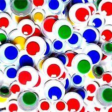 Centros de color Wiggle Wiggly pelotas ojos 50 Tamaños 10 mm 12 mm 15 mm Craft Crafts