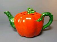 Vintage Tomato Tea Pot Maruhon Ware Hand Painted Japan Teapot