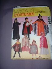 MCCALLS PATTERN 2854 ~ CHILD HALLOWEEN COSTUMES (7 STYLES) ~ SZ 2-6 ~  NEW