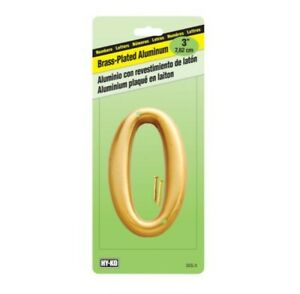 Hy-Ko DCG-3 3 in. Gold Aluminum Nail-On Number