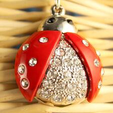 Ladybug Bugs Fashion Keychain Rhinestone Crystal Charm Bugs Insects Gift 01039