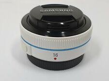 Samsung NX 16mm f/2.4 WHITE Pancake Lens for NX cameras