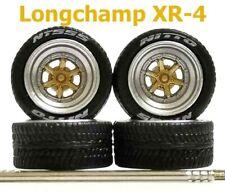 1:64 rubber tires Longchamp XR-4 rim fit Hot Wheels Porsche diecast - 1 set