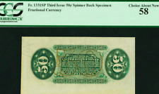 Fr .1331Sp 50¢ Third Issue Spinner Wide Margin Green Back Pcgs Choice About New