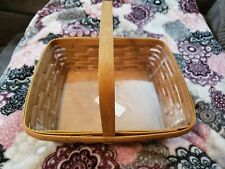 New Listing2005 Longaberger Rectangle Basket with Handle and Protector - Great Condition!