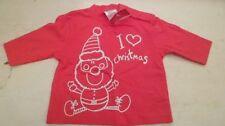 Chemises, débardeurs et t-shirts rouge pour garçon de 0 à 24 mois en 100% coton