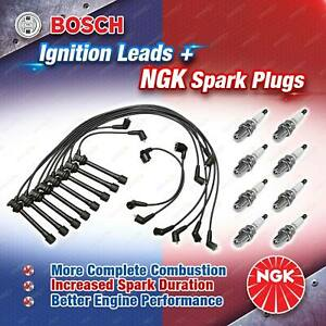 8 NGK Spark Plugs + Bosch Ignition Leads Kit for Toyota Soarer UZZ30 UZZ31 UZZ32