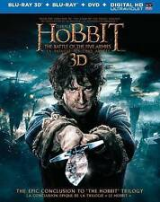 The Hobbit: The Battle of the Five Armies (Blu-ray/DVD, 2015, 3-Disc Set, 3D)