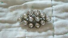 Vintage Large 12 - 1/4 in Clear Rhinestones in Brooch 1940's