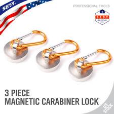 magnet Carabiner Locking Clip Camping Snap Hook Keychain refrigerator Spring