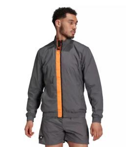 new adidas SPORTSWEAR INNOVATION GRID WOVEN SPORTS TOP men's L gray run jacket