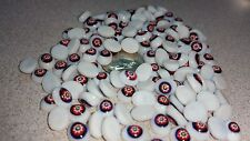 Vintage Millefiori Lampwork Glass Cabochon 8mmx6mm Oval - White - Flower 04468