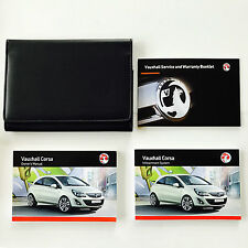 VAUXHALL CORSA OWNERS MANUAL HANDBOOK PACK + NEW BLANK SERVICE BOOK 2012-2015
