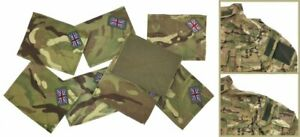 NEW Genuine Single or Pair British Army MTP Union Jack Patches Military Surplus